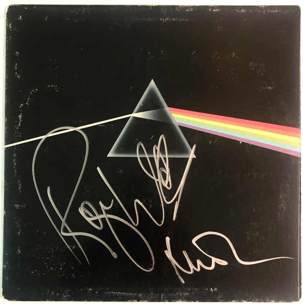 Pink Floyd: Roger Waters & Nick Mason Signed Dark Side of the Moon Record Album (John Brennan Collection)(Beckett/BAS Guaranteed)