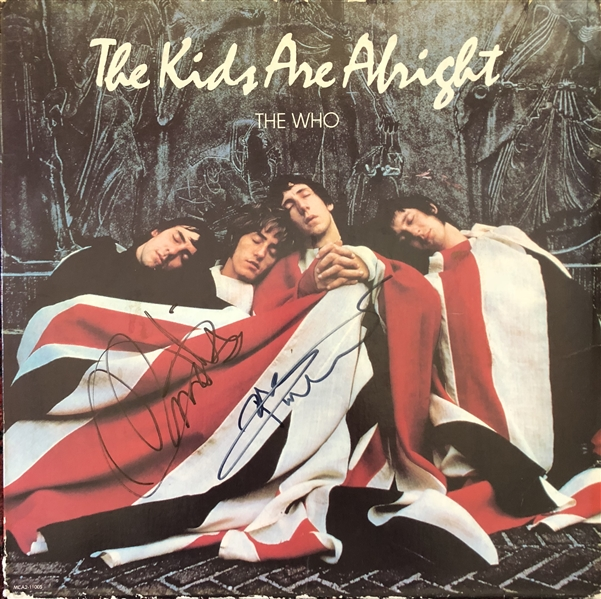 The Who: Peter Townshend & Roger Daltrey In-Person Signed The Kids Are Alright Record Album (Beckett/BAS Guaranteed)