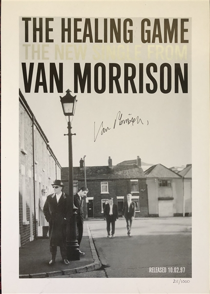 Van Morrison Signed Limited Edition 12 x 17 Print for The Healing Game (Beckett/BAS Guaranteed)