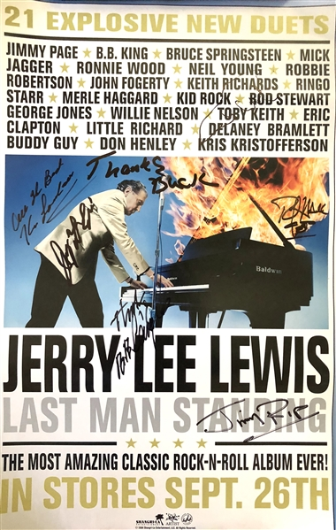 Jerry Lee Lewis In-Person Signed 11 x 17 Promotional Poster (Beckett/BAS Guaranteed)