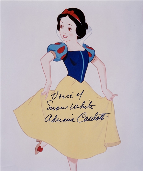 The Voice of Snow White: Adriana Caselotti In-Person Signed 8 x 9 Color Photo with Signing Proof! (Beckett/BAS Guaranteed)