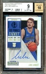 2018-19 Luka Doncic The Contenders The Finals Ticket #122 Autographed Rookie Card :: BGS Graded MINT 9 with 10 Autograph!