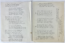 "Chuck Berry Handwritten Two Page Untitled Love Poem"" - Written Circa 1979 While in Prison! (Epperson/REAL LOA)"