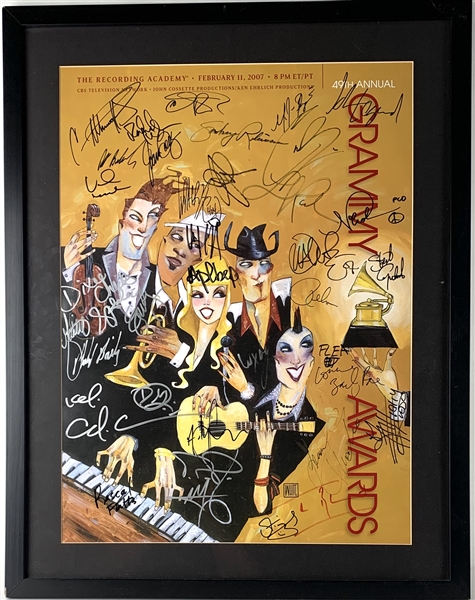49th Annual Grammy Awards Multi-Signed Poster with 35 Signatures Incl. The Police, John Legend, Carrie Underwood, Jennifer Hudson, etc. (JSA LOA)