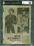 "Jimi Hendrix Near-Mint Signed 8"" x 10"" ""The Making of a Star"" Magazine Photo (BAS/Beckett Encapsulated)"