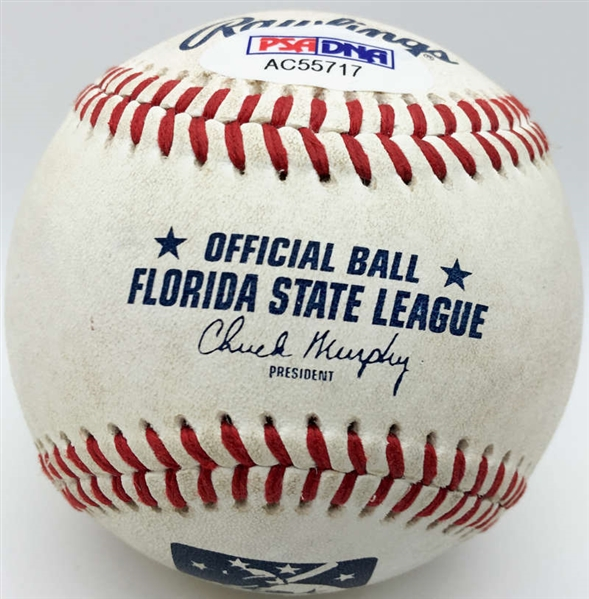 Jose Fernandez Signed & Game Used Pre-Rookie Minor League Baseball (PSA/DNA)