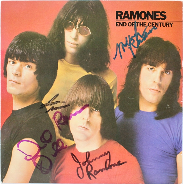 The Ramones Group Signed End of the Century Album (Beckett/BAS)