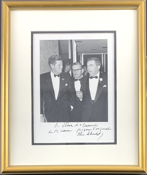 President John F. Kennedy Signed & Inscribed 8 x 10 Candid Photo in Custom Framed Display (Beckett/BAS)