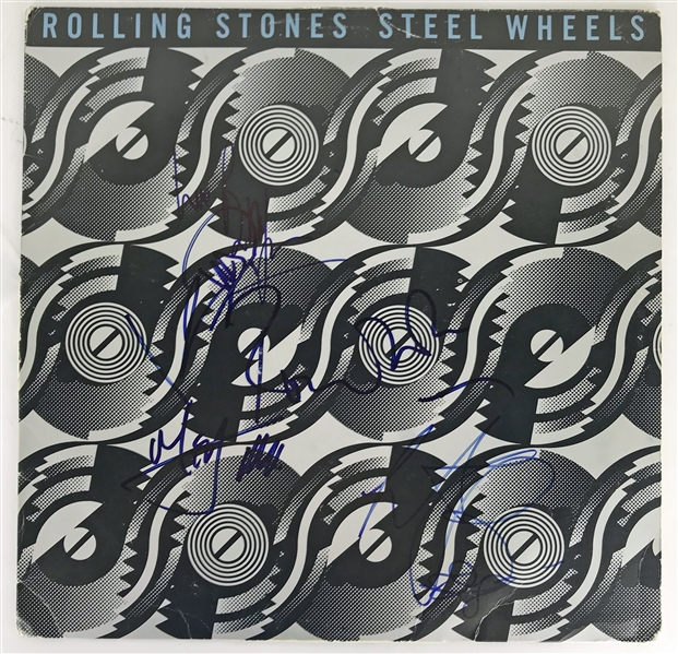 The Rolling Stones Group Signed Steel Wheels Album w/ All Five Members! (JSA)