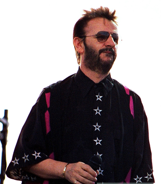 The Beatles: Ringo Starr Concert Worn Shirt & Vest Ensemble :: Worn 8-2-1992 in George, WA (Photomatched)(Ex. Ringo Starr Auction)