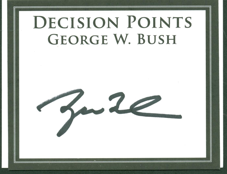 Jimmy Carter and George W Bush (Lot of Two) Signed Items (Beckett/BAS Guaranteed)