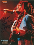"Bob Marley Rare Signed 8.25"" x 11"" Color Magazine Page Photo in Concert! (Epperson/REAL LOA)"