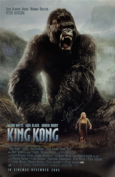 Andy Serkis Signed King Kong 27 x 40 Movie Poster (Celebrity Authentics & Beckett/BAS Guaranteed)