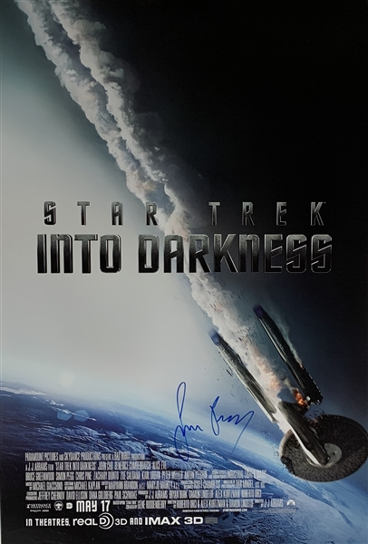 Simon Pegg Signed Star Trek: Into the Darkness 27 x 40 Movie Poster (Celebrity Authentics & Beckett/BAS Guaranteed)