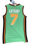 Carmelo Anthony Signed New York Knicks Saint Patricks Day On-Court Style Jersey (JSA)
