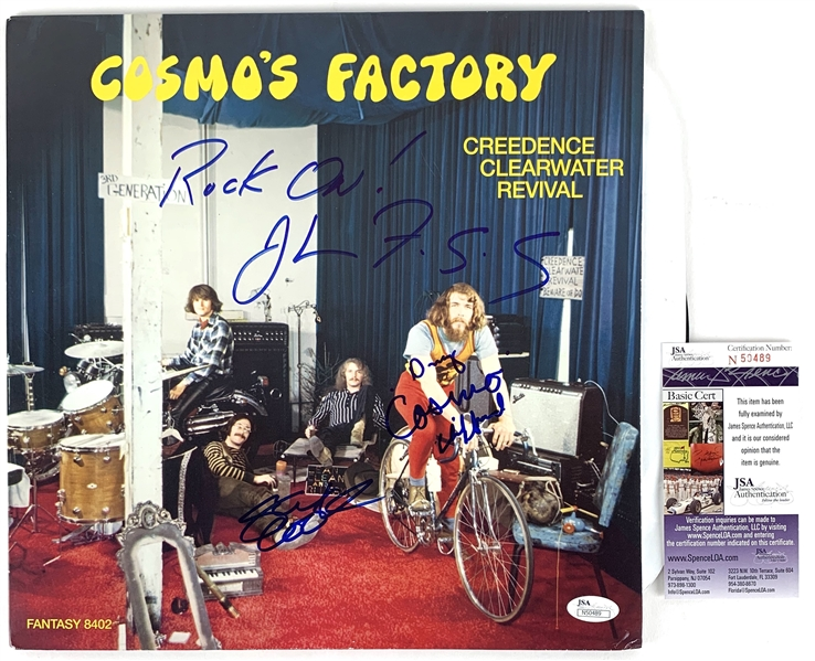 Creedence Clearwater Revival Rare Band Signed Cosmo's Factory Record Album (JSA COA)