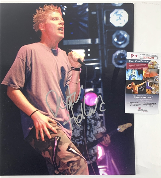 The Offspring: Dexter Holland In-Person Signed 11 x 14 Color Photo (JSA)