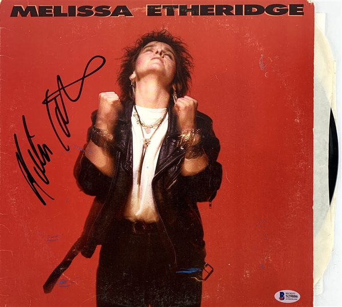 Melissa Etheridge In-Person Signed Self-Titled Album (Beckett/BAS COA)