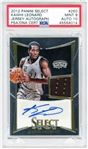 2012 Kawhi Leonard Panini Select Jersey Autograph Rookie :: PSA Graded Mint 9 with PSA/DNA Graded 10 Autograph
