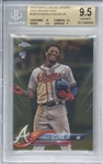 Ronald Acuna Jr 2018 Topps Update Limited Edition /50 Gold Refractor #HMT25 - Beckett/BGS 9.5!