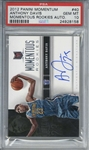 Anthony Davis Signed 2012 Panini Momentum Rookie #40 - PSA GEM MINT 10!
