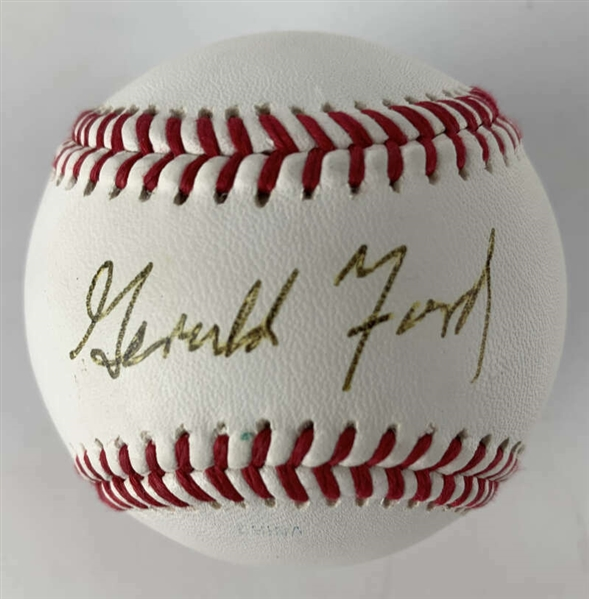 President Gerald Ford Signed Official League Baseball (Beckett/BAS)