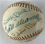 500 Home Run Club Signed OML Baseball w/ Rare 14 Signatures Including Mantle/Williams! (JSA)