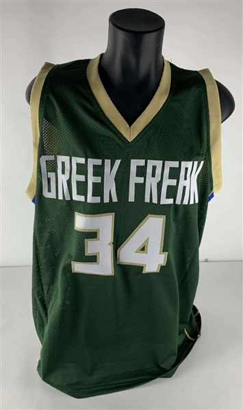 Giannis Antetokounmpo Signed Custom Greek Freak Jersey (Beckett/BAS)