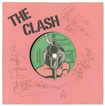"The Clash ULTRA-RARE Band Signed ""In Hammersmith Palais/The Prisoner"" 45 RPM Album Cover w/ All 4 Sigs! (Beckett/BAS Guaranteed)"