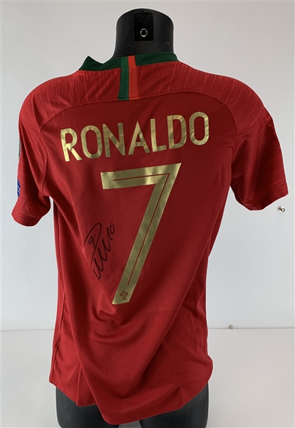 Christiano Ronaldo Signed Official 2018 World Cup Portugal Jersey (JSA)