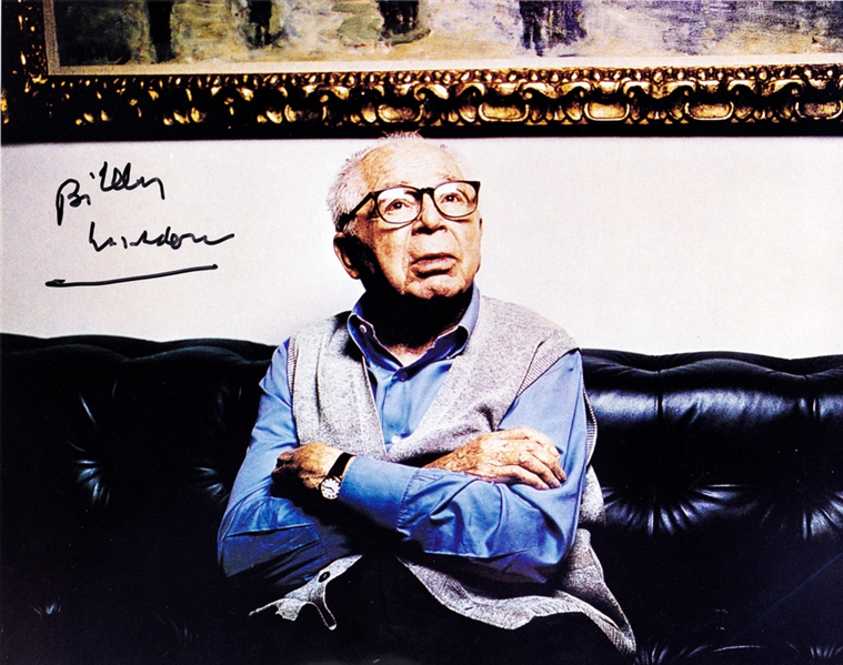 Billy Wilder In-Person Signed 8 x 10 Color Photo with EXACT Signing Proof! (Beckett/BAS Guaranteed)