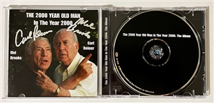"Mel Brooks & Carl Reiner Signed ""The 2000 Year Old Man in the Year 2000"" Comedy CD (Beckett/BAS Guaranteed)"