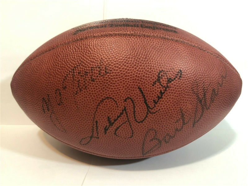 60's Finest: Bart Starr, Johnny Unitas & Y.A. Tittle Rare Vintage Signed Pete Rozelle Football (Beckett/BAS Guaranteed)