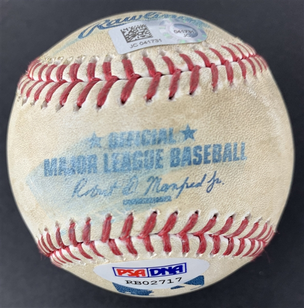 Cody Bellinger Signed & Game Used ROY 2017 OML Baseball During 2nd Career Home Run Game! (PSA/DNA & MLB)