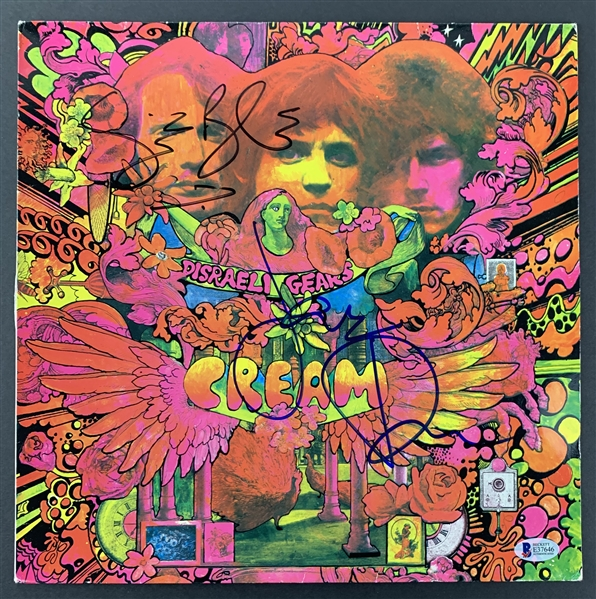 Cream Group Signed Lot of Two (2) Disraeli Gears Albums w/ Clapton, Baker & Bruce (Beckett/BAS Guaranteed)
