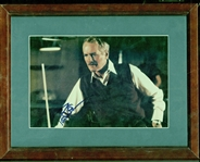 "Paul Newman Signed 6.5"" x 9"" Color ""The Hustler"" Framed Photograph Display (Beckett/BAS Guaranteed)"