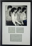 "Pink Floyd Band Signed 16"" x 23"" Early Cut Signature Display w/ ULTRA-RARE Syd Barrett! (JSA LOA)(Floyd Authentic Guaranteed)"