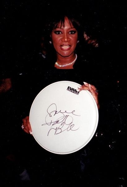 Patti LaBelle In-Person Signed Drumhead with Photo Proof (Beckett/BAS Guaranteed)