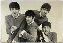 "The Beatles Amazing Vintage Signed 24"" x 36"" Dezo Hoffmann Print :: The Largest Beatles Group Signed Item Known to Exist! (Caiazzo LOA)"