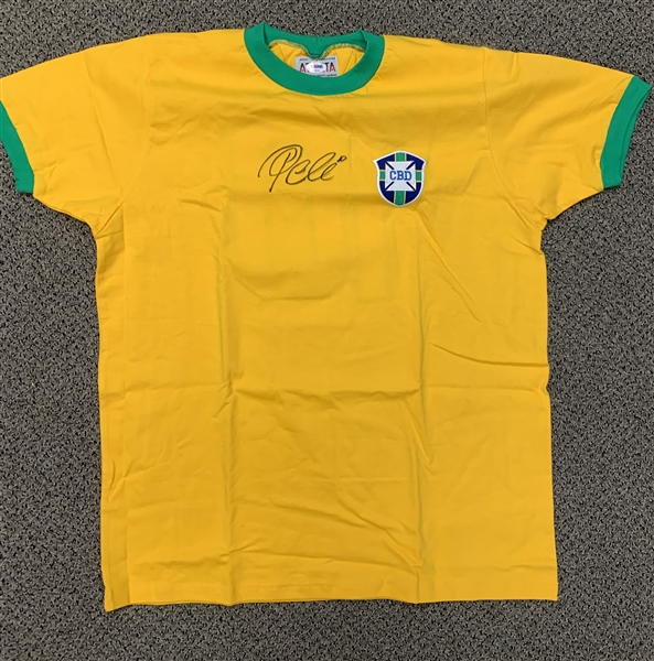 Pele Signed Brazil World Cup Jersey (PSA/DNA)