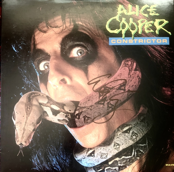 Alice Cooper Signed Constrictor Record Album (Beckett/BAS Guaranteed)
