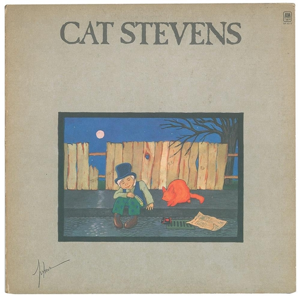 Cat Stevens In-Person Signed Teaser and The Firecat Record Album (John Brennan Collection)(Beckett/BAS Guaranteed)