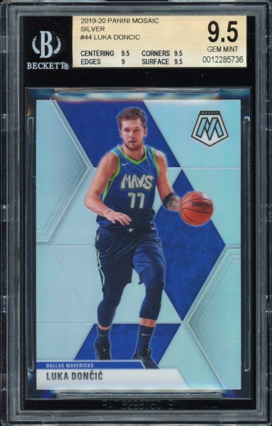 2019-20 Luka Doncic Panini Mosaic Silver #44 :: BGS Graded GEM MINT 9.5