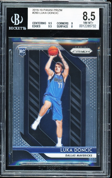 2018-19 Luka Doncic Panini Prizm #280 Rookie Card :: BGS Graded NM-MT+ 8.5 with (2) 9.5 Subgrades!