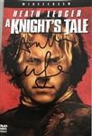 "Heath Ledger In-Person Signed DVD Cover for ""A Knights Tale"" with Signing Proof! (ACOA)(Beckett/BAS Guaranteed)"