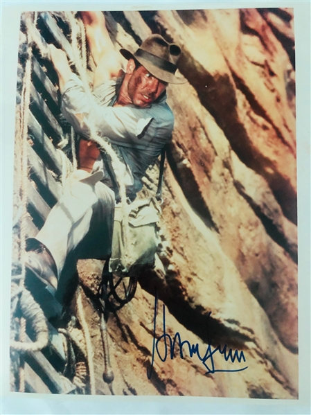 Indiana Jones: Harrison Ford Signed 8 x 10 Color Photo (John Brennan Collection)(Beckett/BAS Guaranteed)