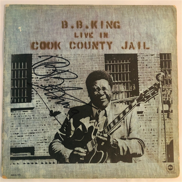 B.B. King In-Person Signed Live in Cook County Jail Record Album Cover (John Brennan Collection)(Beckett/BAS Guaranteed)