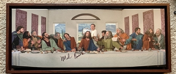 "Mel Brooks Unique Signed ""The Last Supper"" 26"" x 9"" Framed Print from ""The History of the World, Part 1"" (Beckett/BAS Guaranteed)"