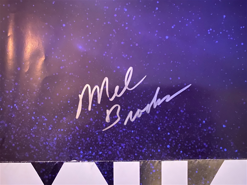 "Mel Brooks Signed Spaceballs 26 3/4"" x 40"" Full Sized Advance Movie Poster (Beckett/BAS Guaranteed)"