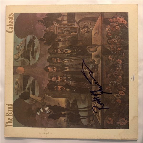 The Band: Robbie Robertson Signed Cahoots Record Album Cover (John Brennan Collection)(Beckett/BAS Guaranteed)